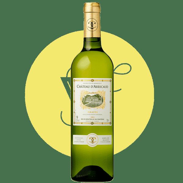 Château d'Arricaud blanc sec 2017, Vin Blanc de Aquitaine