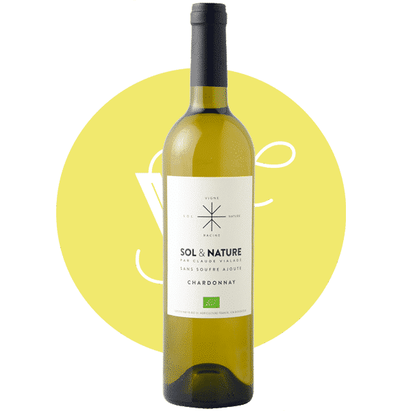 Sol et Nature Chardonnay 2019, Vin Blanc de Languedoc