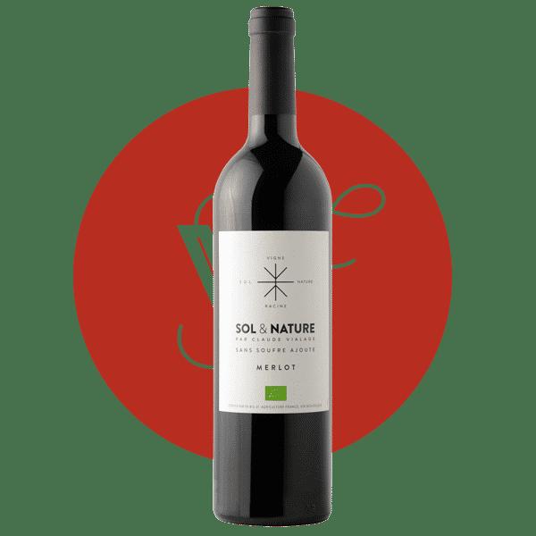 Sol et Nature Merlot 2018, Vin Rouge de Languedoc