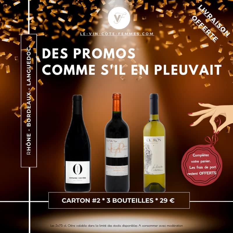 Coffret vin promo pack 2