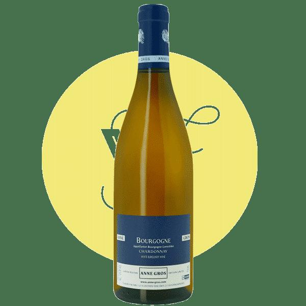 Photo bouteille Bourgogne blanc Vegan Anne Gros