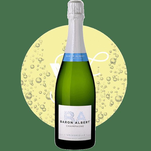 Photo bouteilles Champagne Brut L'Universelle Baron Alvert