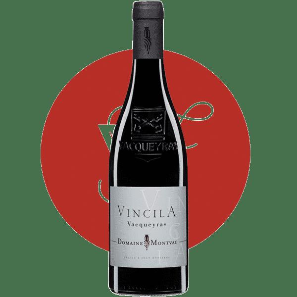 Photo bouteilles AOC Vacqueyras Domaine Montvac cuvée Vincila