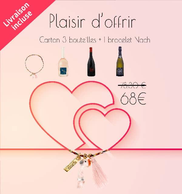 Coffret cadeau bracelet Nach + 3 bouteilles