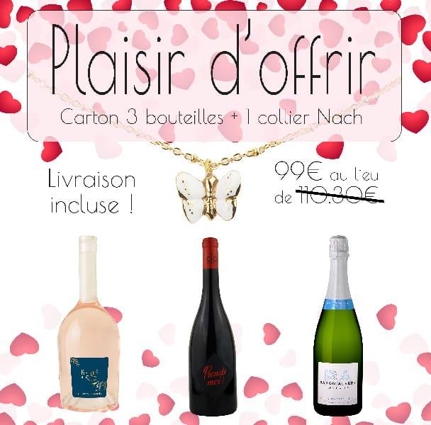Coffret cadeau collier Nach + 3 bouteilles